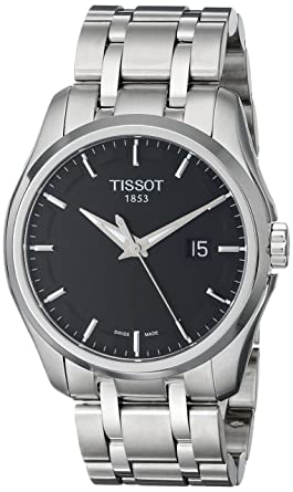 2ae513b25d3 Tissot Men s T0354101105100 Couturier Black Dial Stainless Steel Watch