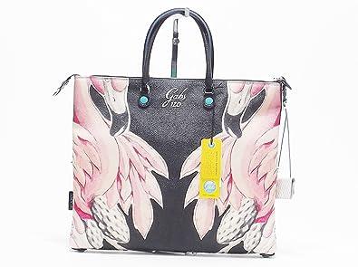 GABS G3 Studio Fenicotteri borsa donna a spalla trasformabile in PVC multicolore tagli L