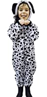 Childrens Boys Girls Animal Onesie Fluffy Fleece PUG TEDDY BEAR Monkey Dalmation Dog Sheep Gorilla in Kids Age 2 -13 years