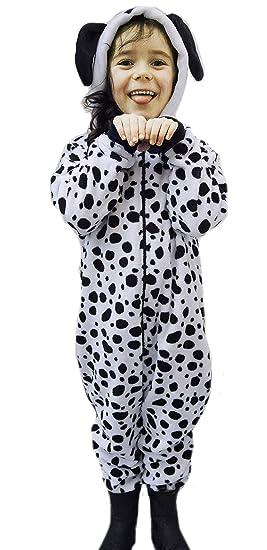 8d0b0bda909f3 Enfants garçon Fille Combinaison Animale Duveteux Polaire Carlin Ours en  Peluche Singe Dalmatien Chien Mouton Gorille en Enfants 2 Ans -13 an   Amazon.fr  ...