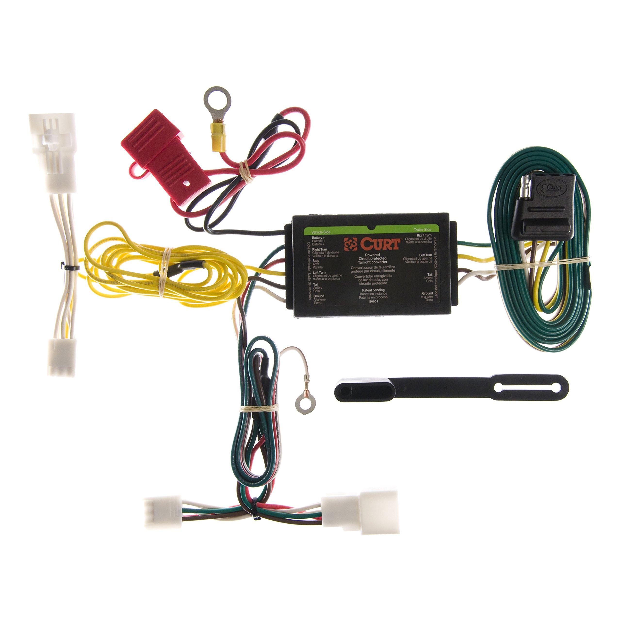 Curt Manufacturing 56147 Trailer Connector Automotive Wiring Flat Plug