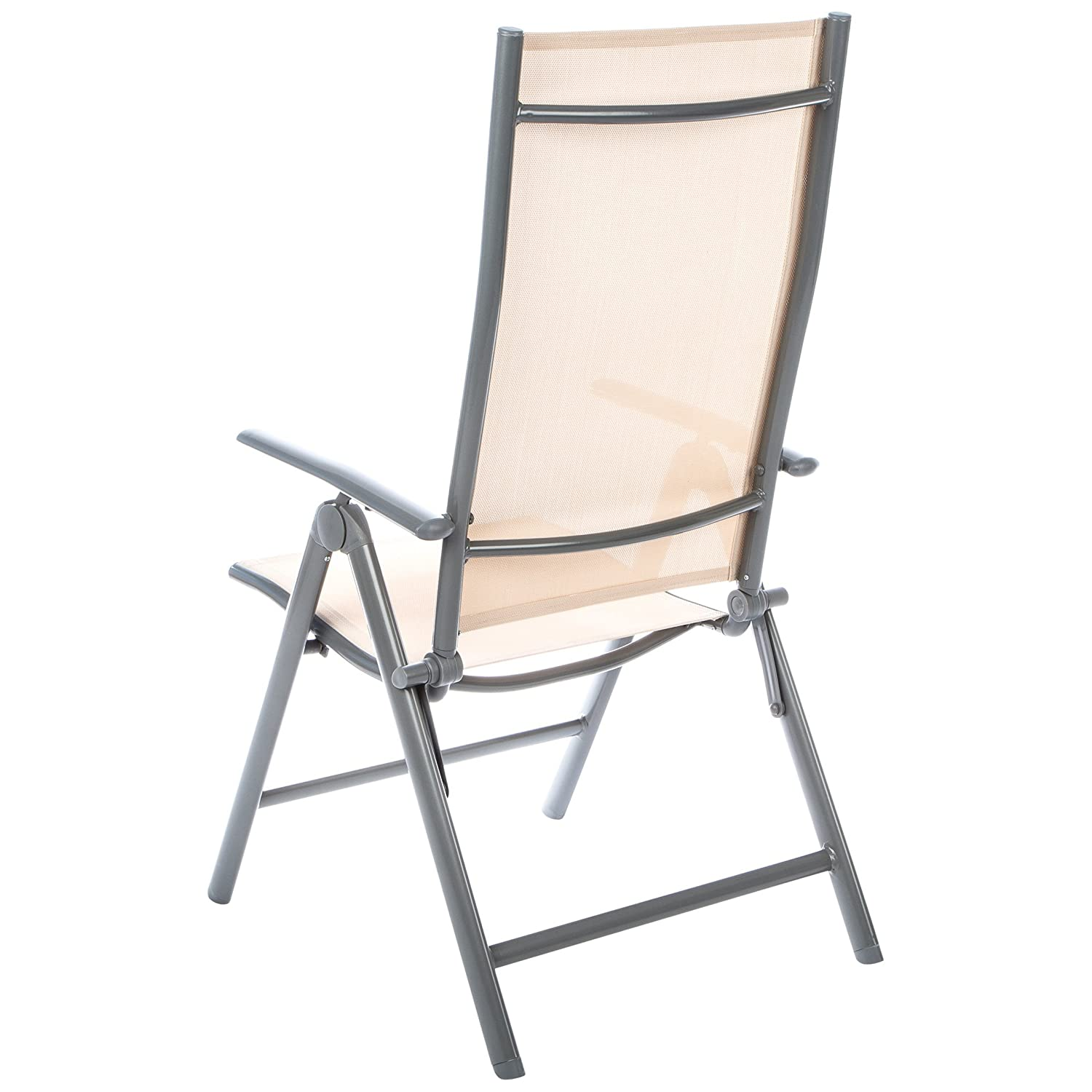 Ultranatura Korfu - Basic - Sillón Plegable de Aluminio, Color Beige