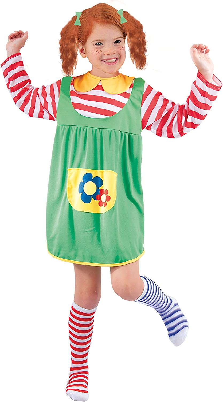 FIORI PAOLO – Disfraz de niña Pippi Calzaslargas M (5-7 anni ...