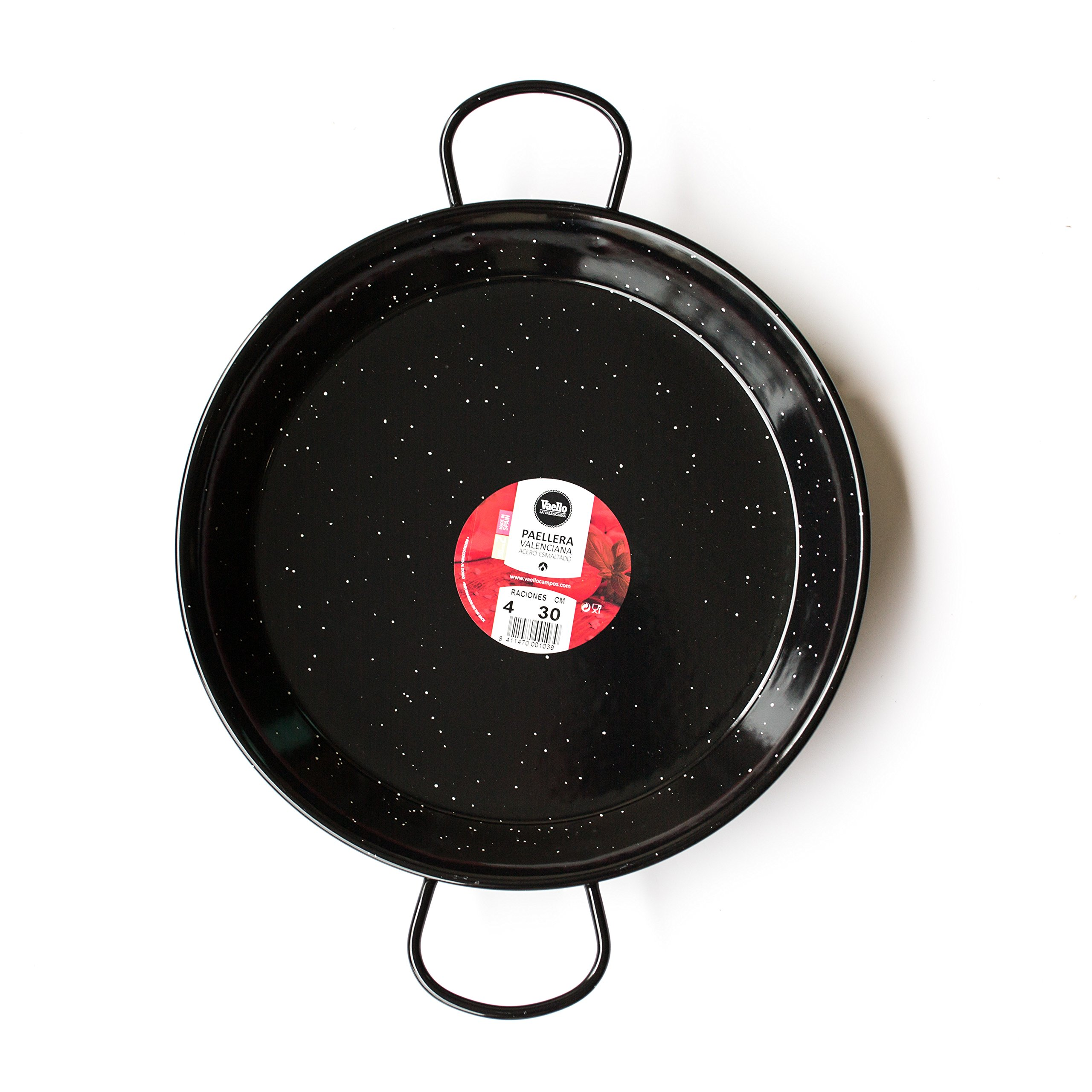 Enamelled Steel Valencian paella pan 12Inch / 30cm / 4 Servings