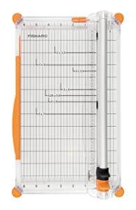 Fiskars Personal SureCut Plus Paper Trimmer 30 cm - A4, with Cutting Line Guide, Including 1 Scoring Blade & 1 Cutting Blade, 1020504