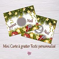 Ticket à gratter personnalisé spécial Noël - Annonce grossesse - Demande surprise - Parrain Marraine - Demande témoin