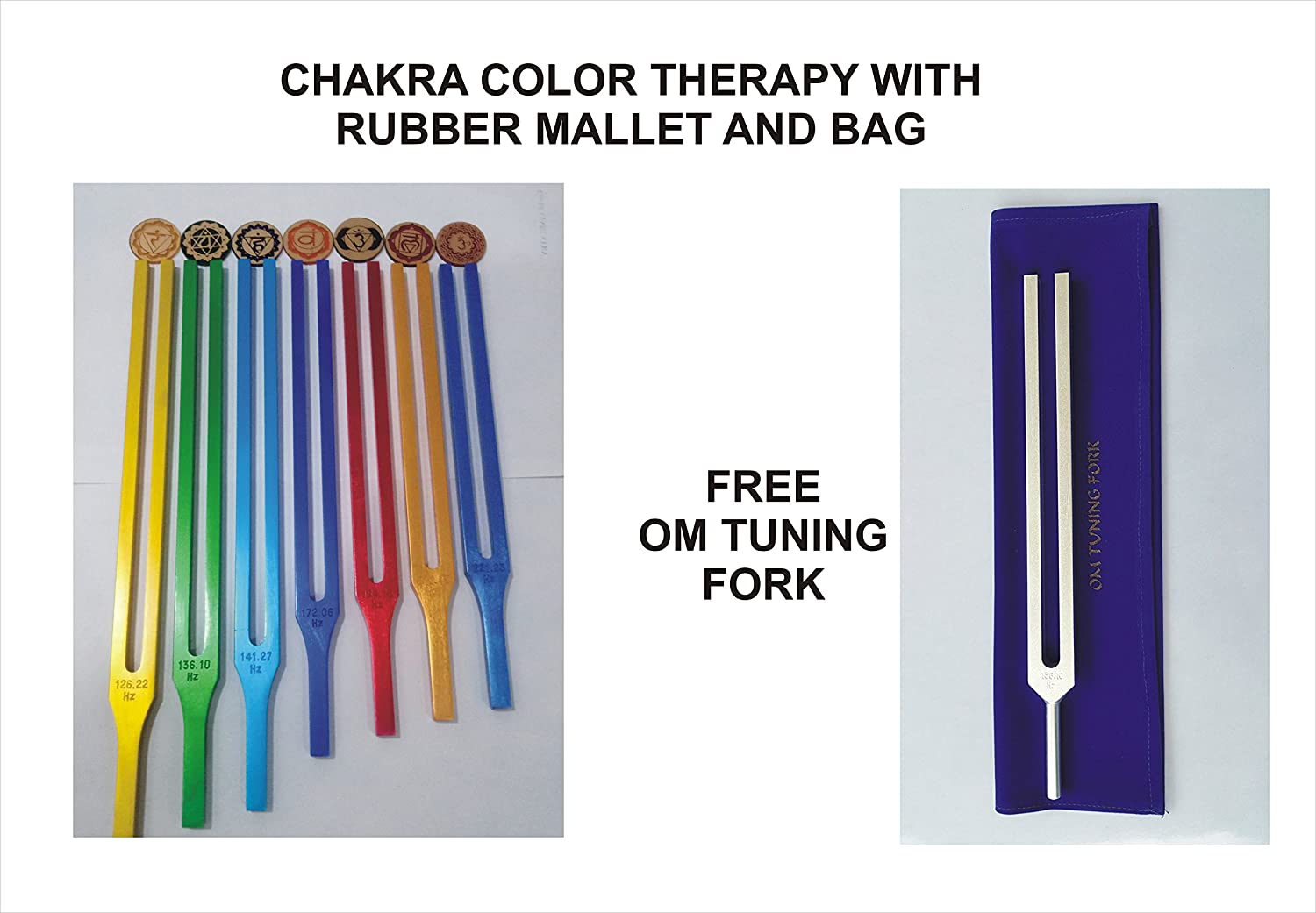 Om Tuning Fork Therapy Free With Chakra Color Chakra Therapy Tuning Tuning Fork B0146RCAWI, 価格破壊研究所:70304b6a --- verkokajak.se