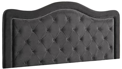 Hillsdale Trieste Headboard without Frame, King, Pewter