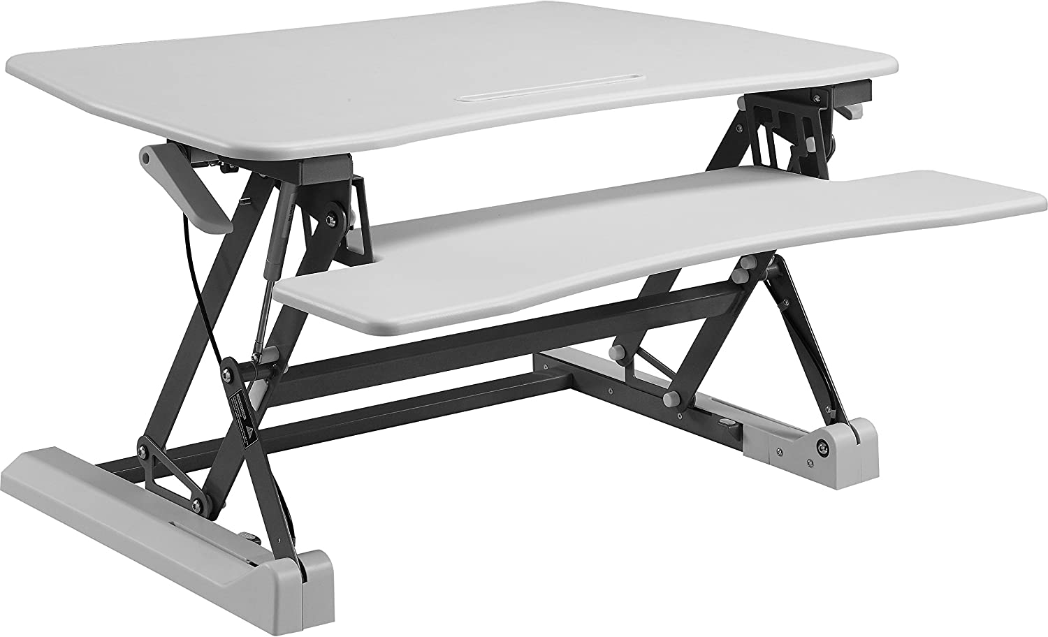 Lorell Sit-to-stand Gas Lift Desk Riser, White
