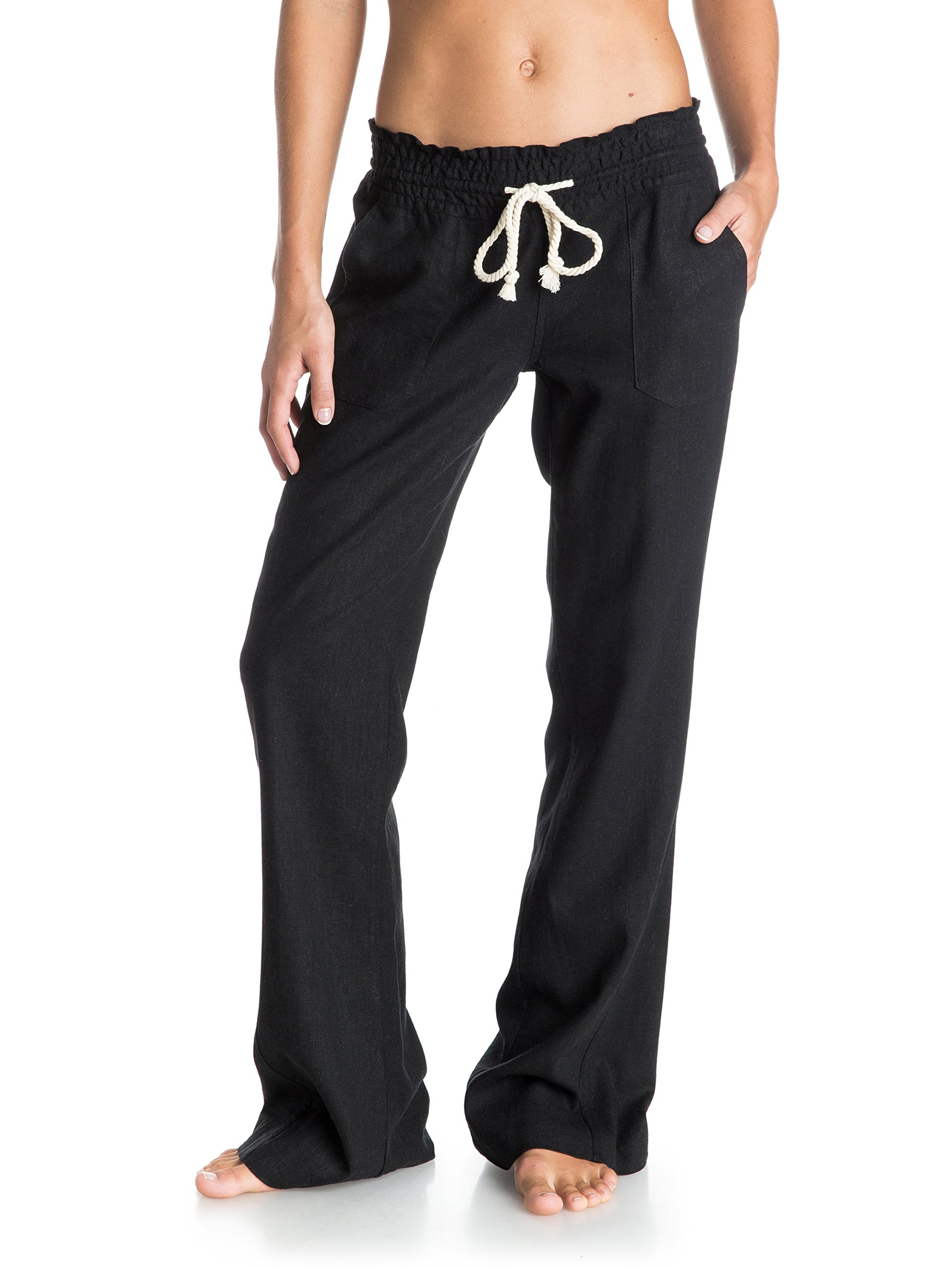 Roxy Junior's Oceanside Pant, True Black, Medium