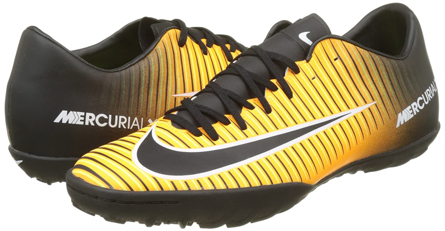 Amazon.com | Nike Kids MercurialX Victory VI Turf Soccer Shoes (7.5 D(M) US) Orange/Black | Soccer