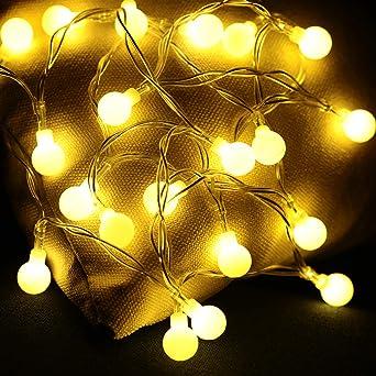 Lichterkette innen Glühbirne Lichterkette Batterie Kugeln 20er LED ...