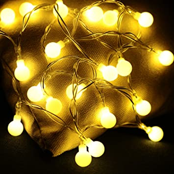 Serie de Luces de Navidad LED Decoracion,guirnaldas de Luces Coronas navideñas con Forma de