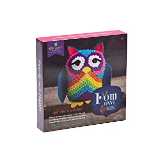 Craft-tastic – Pom Owl – Craft Kit Makes One Pompom Owl Stuffed Animal