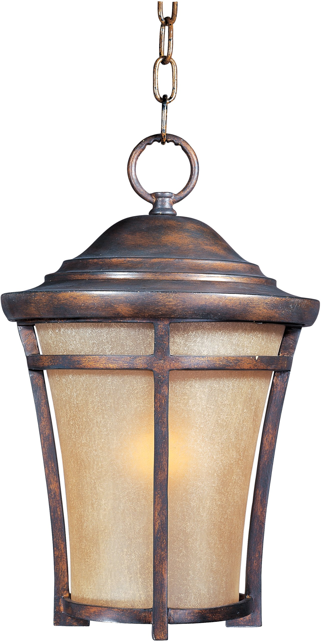 Maxim 85167GFCO Balboa VX EE 1-Light Outdoor Hanging, Copper Oxide Finish, Golden Frost Glass, GU24 Fluorescent Bulb , 100W Max., Dry Safety Rating, Standard Dimmable, Glass Shade Material, 1150 Rated Lumens