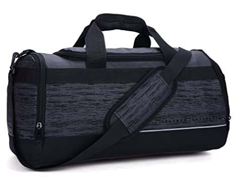 MIER 20 Inch Gym Bag With Shoe Compartment Men Duffel Medium Black