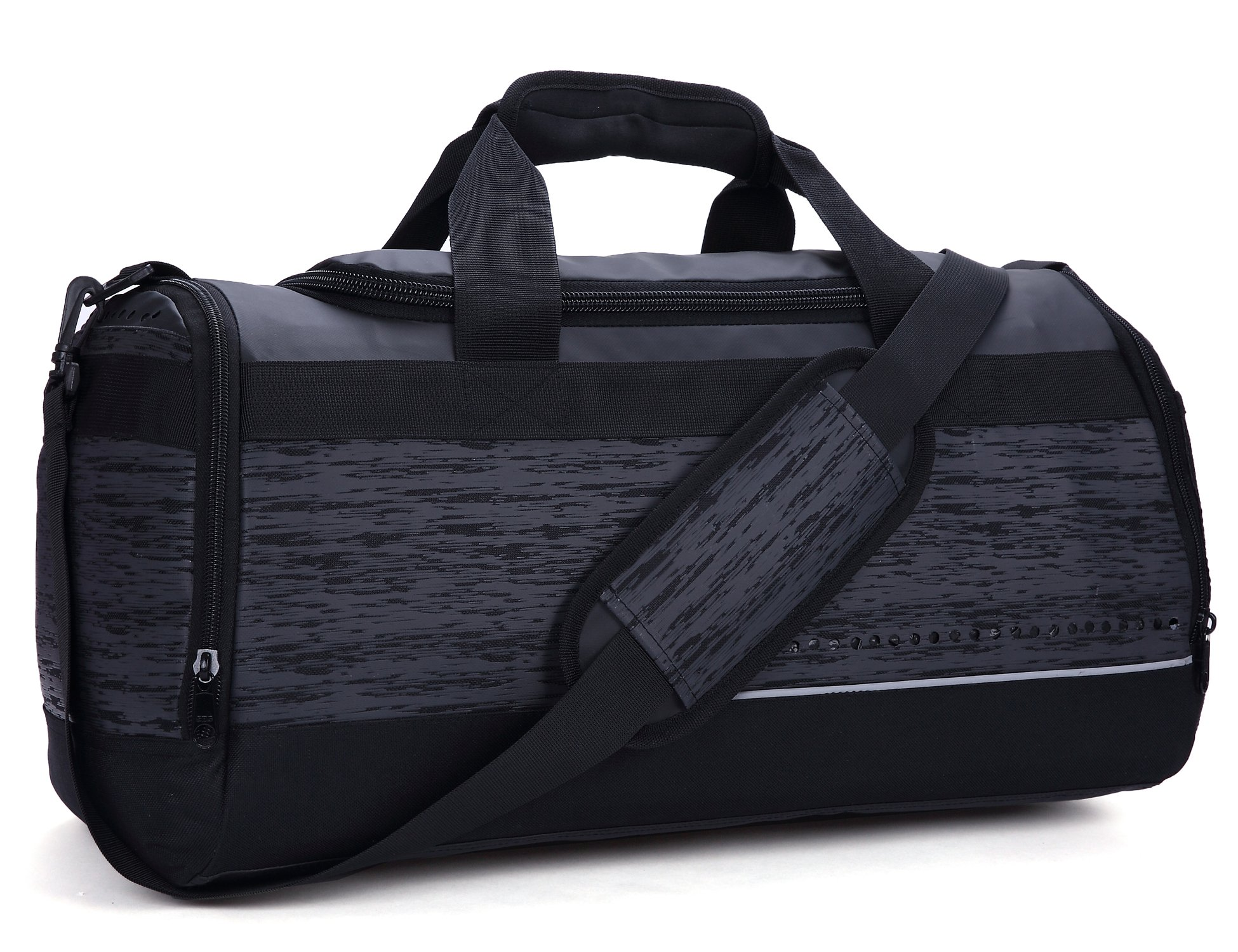 MIER 20 Inch Gym Bag with Shoe Compartment Men Duffel Bag, Medium, Black