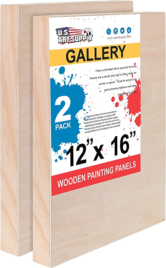 "Art Supply 6/"" x 12/"" Birch Wood Paint Pouring Panel Boards U.S Studio 3//4/"" D..."