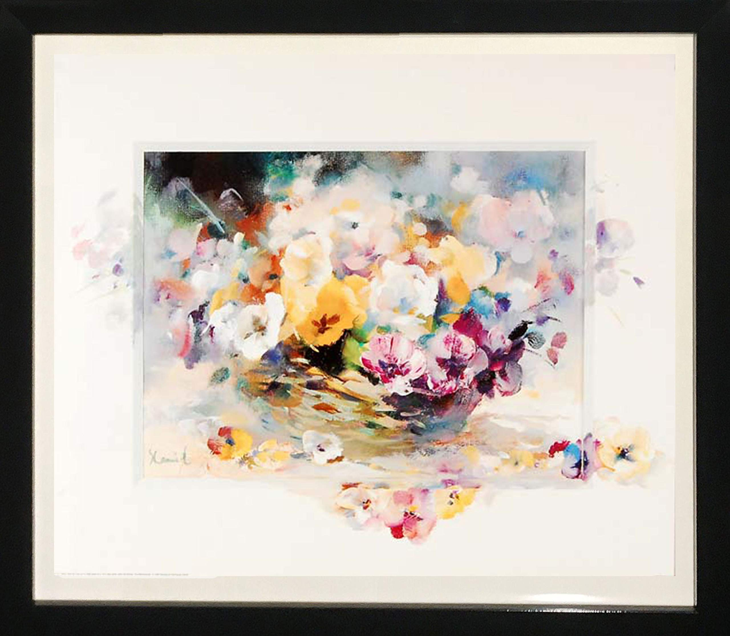 Framed Art''Flowers'' by Stephanie Camel by