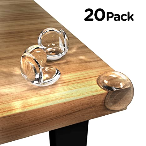 8 Pack Safety Soft Desk Cover Table Corner Edge Protectors Transparent Cushions