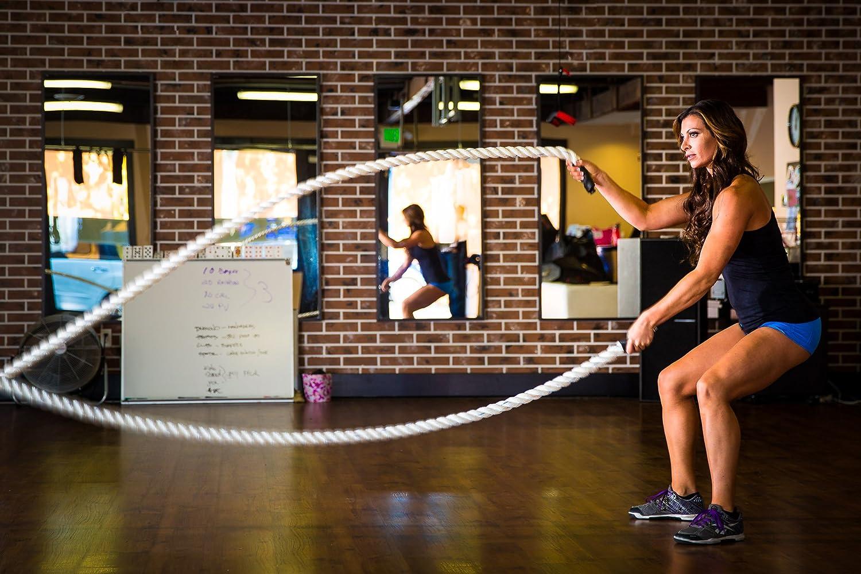 Amazon.com : USA MADE BLACK Poly Dac Training Ropes / BATTLE Ropes ...