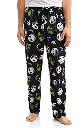 c9dd423435 Jack Skellington The Nightmare Before Christmas Men s Minky Fleece Sleep  Pants - Medium