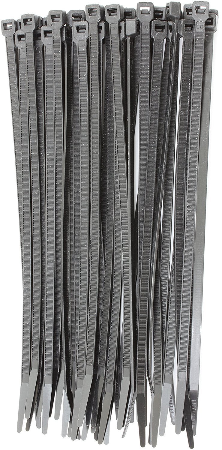 12' Inch Zip Ties White (100 Pack), 40lb Strength, Nylon Cable Wire Ties, By Bolt Dropper. 4330221923