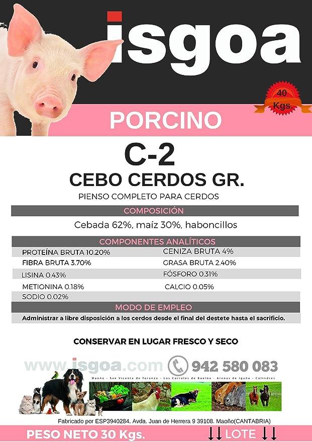 Pienso Cerdos Granulado C-2 Isgoa: Amazon.es: Productos para ...