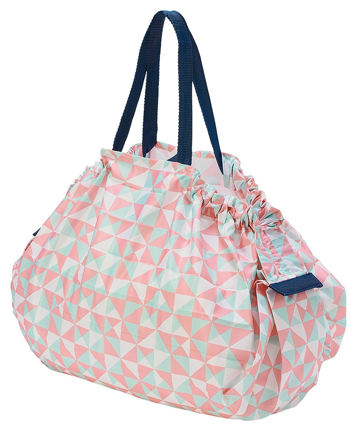 a92c0014e762 Amazon.com  MARNA Reusable Shopping Grocery Compact Foldable Tote Bag L  (triangle)  Kitchen   Dining