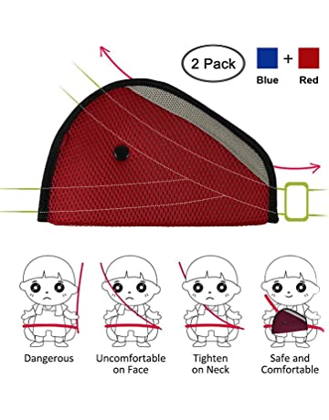 Bozaap Children Seatbelt Pillow Car Seat Strap Belt Cover Doll Toy Adjustable Pillow Pad Cushion Cover for Kids Children