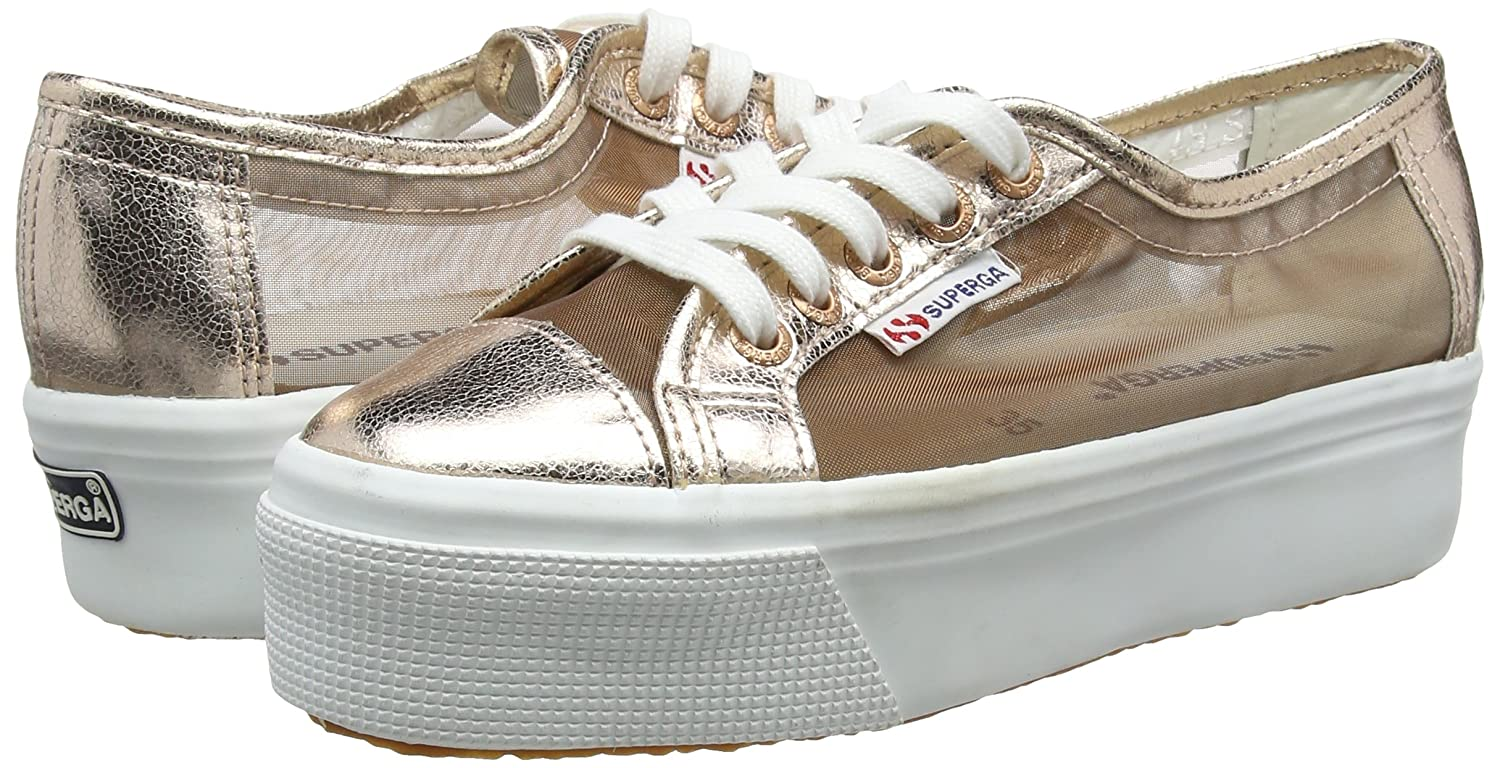 Unisex Adults 2790 Netw Platform Sneakers, Pink (Rose Gold), 3.5 UK 36 EU Superga