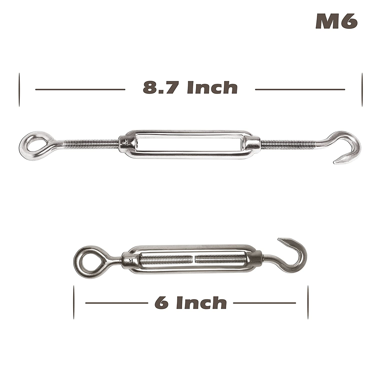 304 Stainless Steel Hardware Kit Min Living 20 Pcs M3 Wire Rope Clamp//Clip and 10 Pcs M3 Thimble for 1//8 Inch Wire Rope Cable Hook/&Eye Heavy Duty Cable Railing Kit 5 Pcs M6 Turnbuckle Tension