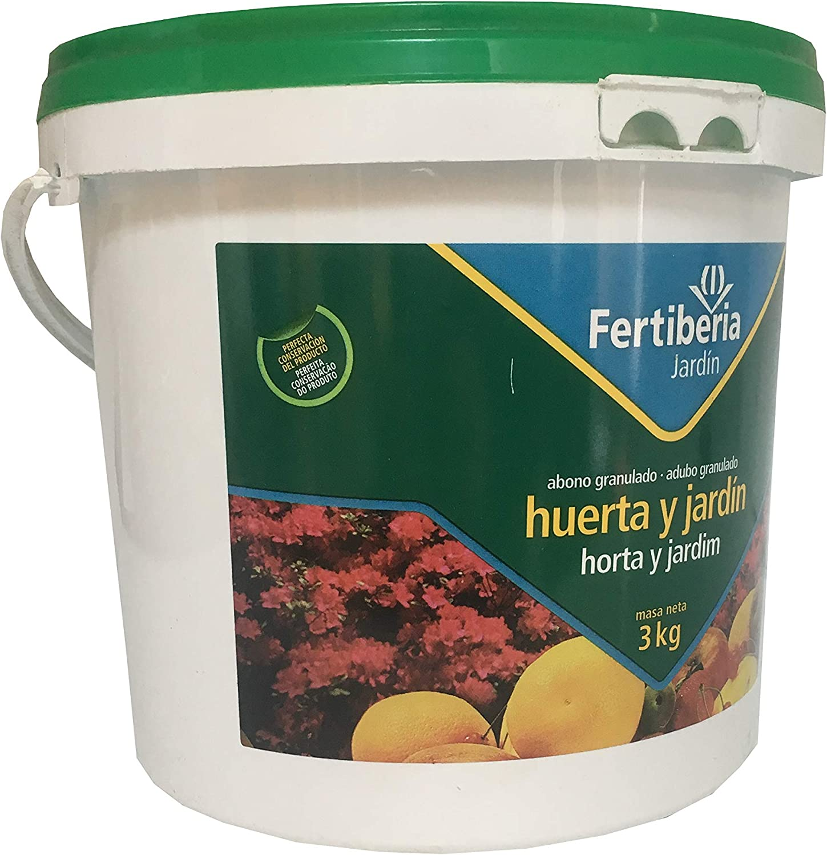 FERTIBERIA Abono granulado 3Kg para Huerta y jardín