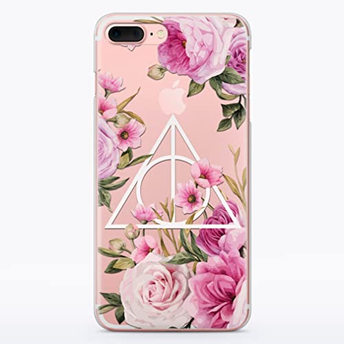 Harry Potter Deathly Hallows Symbol Flowers Floral Pink Rose Always Hogwarts Case for Apple 10 X 8 8s 8plus 7 6 6S 6plus 7plus 6splus 7plus 7s Plus 4 4S 5 5S 5C SE 5se Fandom Cases Phone Cover MA1275