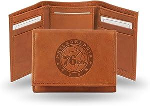 Rico Industries NBA Atlanta Hawks Embossed Leather Trifold Wallet, Tan