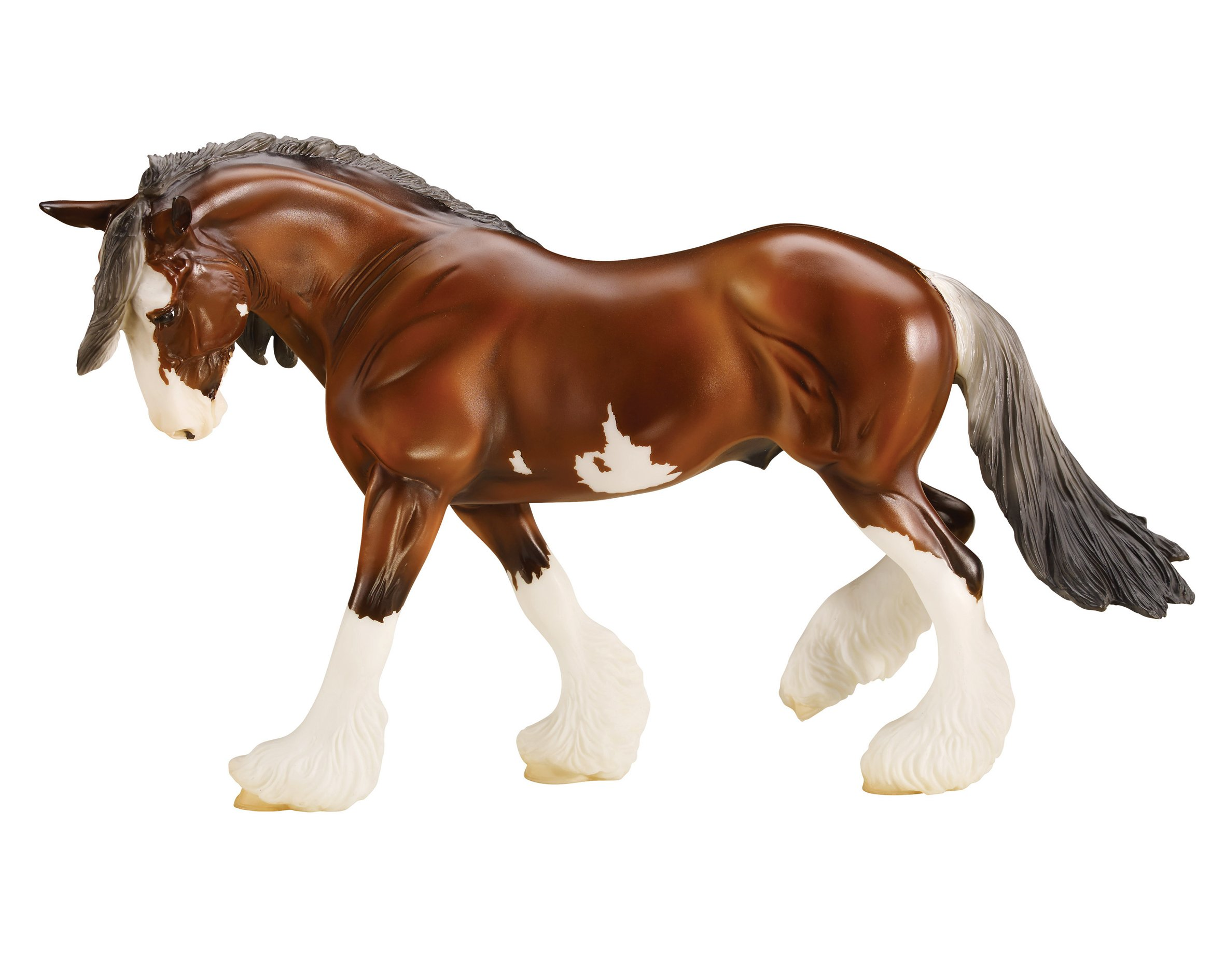 """Breyer Traditional Series SBH Phoenix Clydesdale Horse 