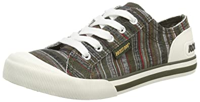 Rocket Dog Jazzin Womens LowTop Trainers Green Olive Drifter