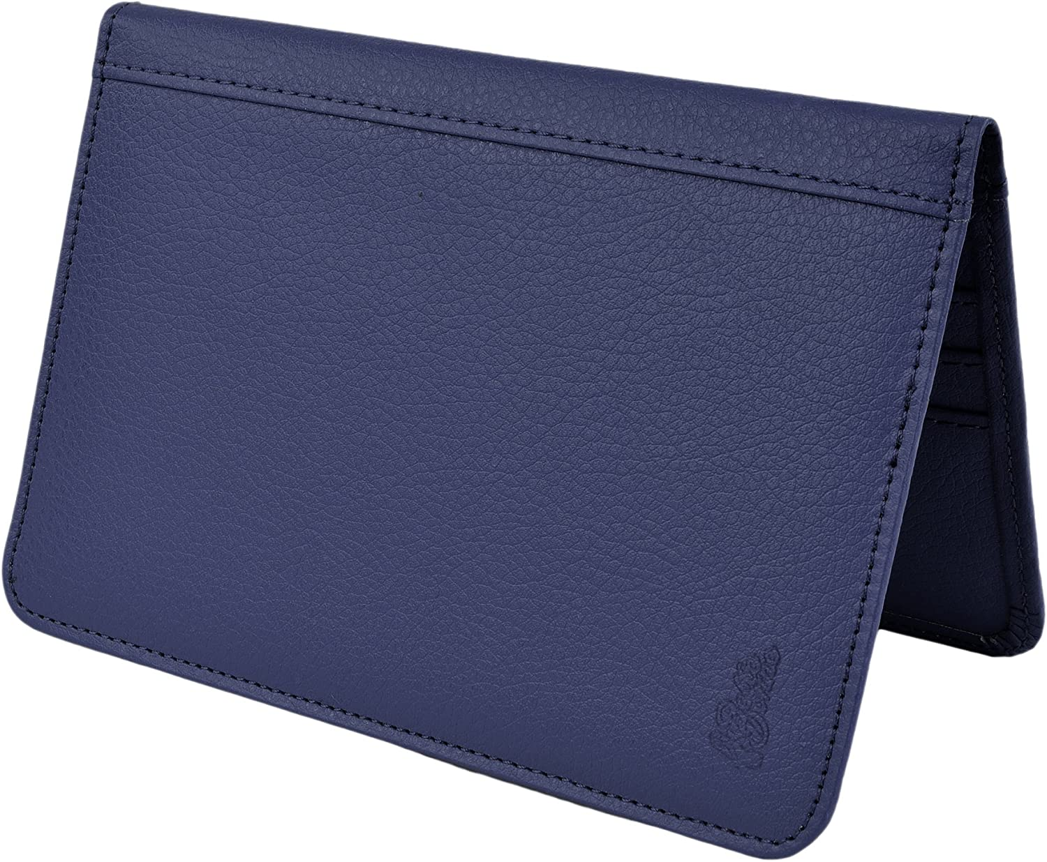 Belle Donne RFID Blocking Passport Cover PU Leather Travel Wallet Blue