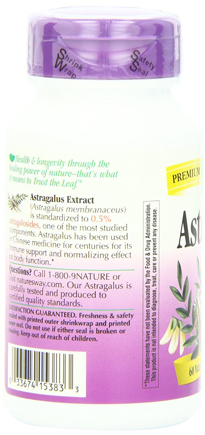 Nature's Way Premium Extract Standardized Astragalus 0.5% Astragalosides, 60 Vcaps