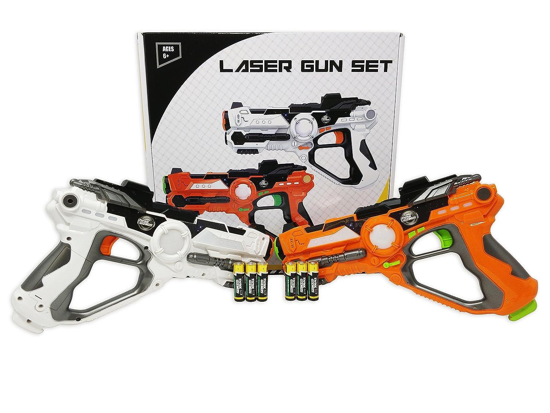 Think Gizmos Conjunto de Pistolas láser para niños y Adultos TG666