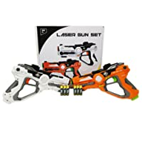 Think Gizmos Laser Gun Set For Kids And Adults TG666 – Infrared Laser Tag Game For Boys & Girls (2 Blasters Included) – Cool Blaster Sounds With Optional 4 team Multiplayer Selection
