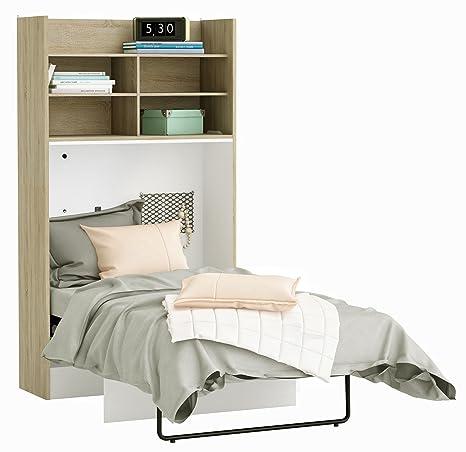 Armadio letto grigio/bianco B 113 Rovere sonoma letto parete letto ...