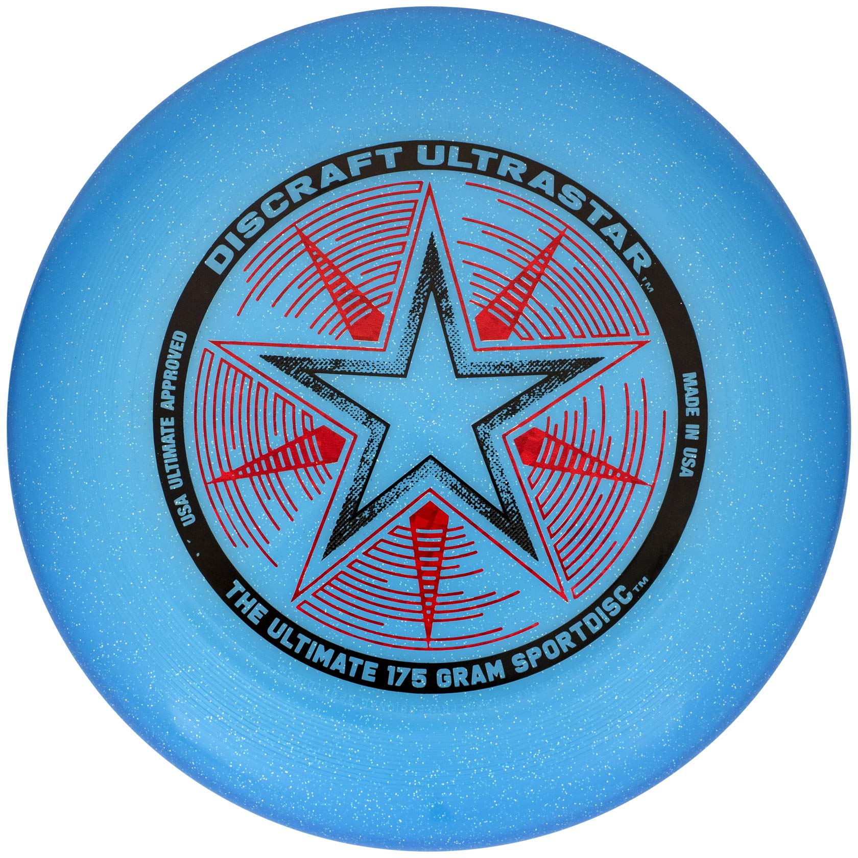Discraft 175 gram Ultra Star Sport Disc, Blue Sparkle by Discraft