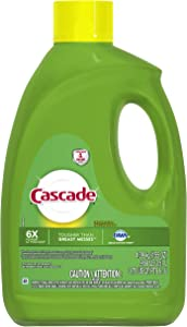 Cascade Gel Dishwasher Detergent, Lemon Scent - 155 Oz / 4.39 Kg - with Grease-Fighting Power of Dawn