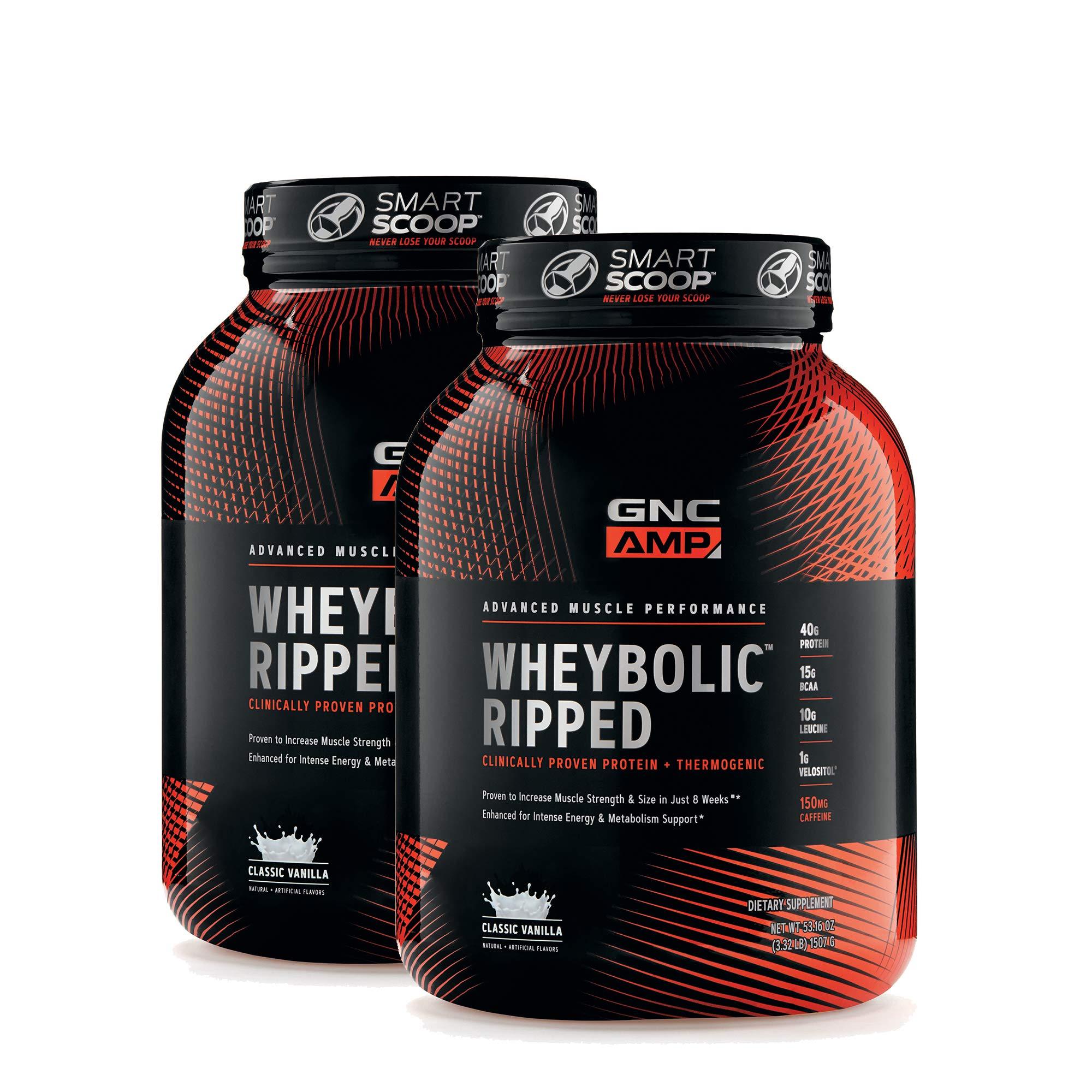 GNC AMP Wheybolic Ripped - Classic Vanilla - Twin Pack