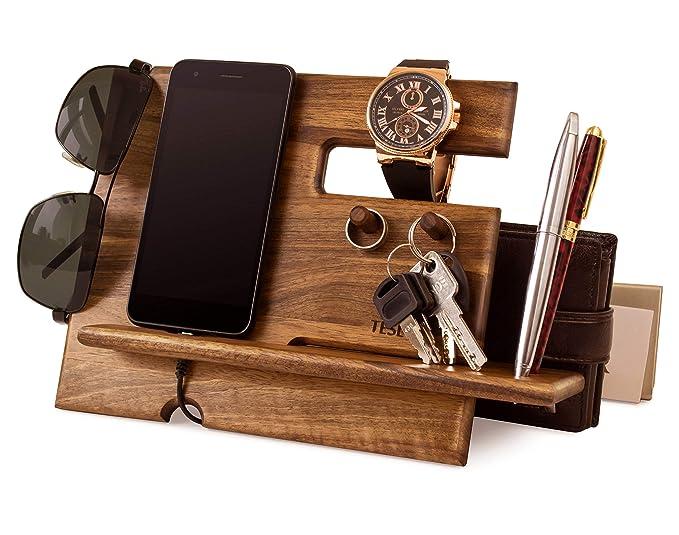 Amazon.com: Soporte de madera para teléfono móvil con ...