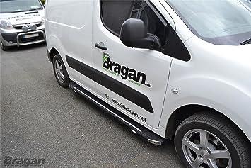 A Fit 08 - 16 Peugeot Partner Tepee lateral de aluminio estribos negro + LED: Amazon.es: Coche y moto