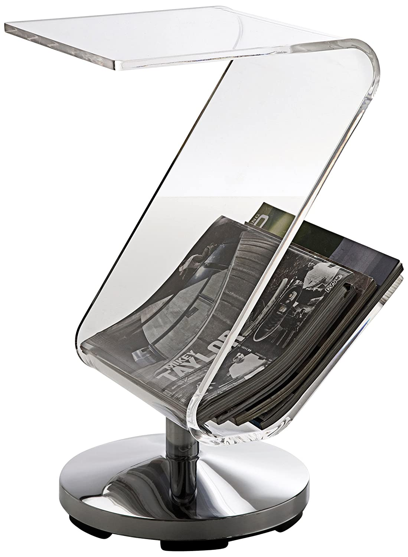 KARE 76047 - Tavolino d'appoggio e portariviste ZickZack, in acrilico Kare Design GmbH