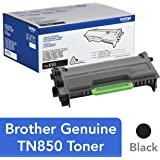 Brother Genuine High Yield Toner Cartridge, TN850, Replacement Black Toner, Page Yield Up To 8, 000 Pages, Amazon Dash Replen