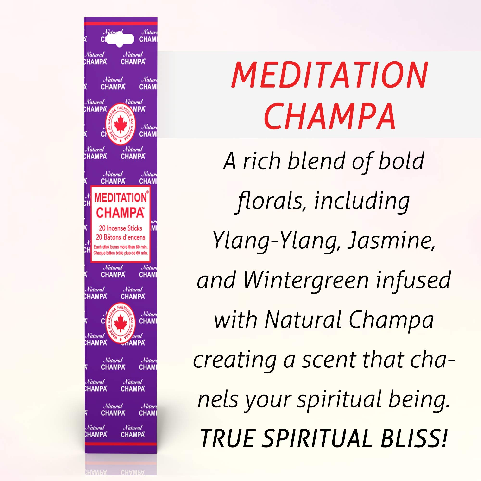 Natural Champa Incense Set - Classic Blended Collection of 140 Sticks with Free Incense Burner - Lasts 60+Minutes by Natural Champa (Image #7)